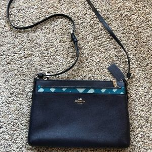 Coach crossbody bag with removable clutch